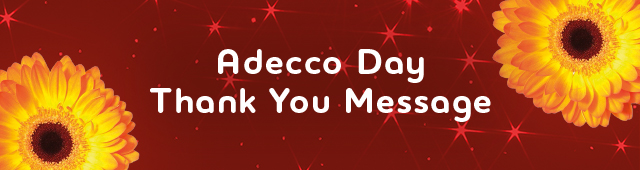 Adecco Day Thank You Message